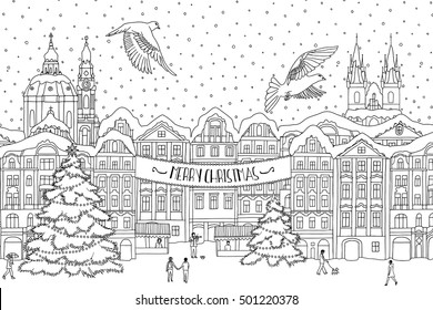 Christmas In Prague Book.Prague Christmas Markets Stock Illustrations Images