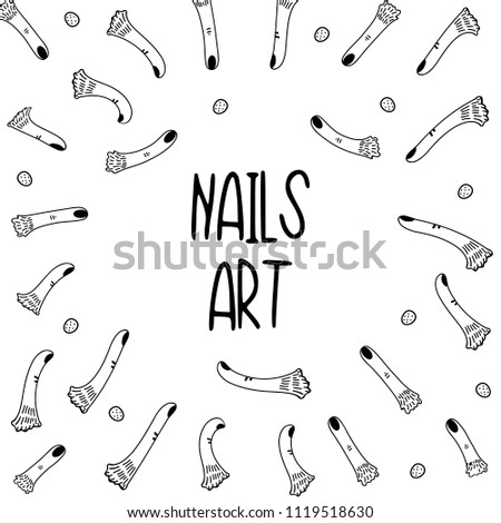 Hand Drawn Black White Simple Doodle Stock Vector Royalty Free