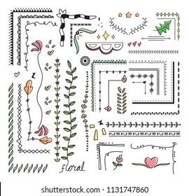 hand drawn border doodle vector illustration