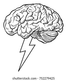 hand drawn brain storm vector