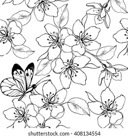 Cherry Blossom Coloring Pages Stock Illustrations, Images ...