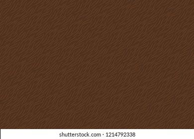 Hand drawn brown animal fur texture seamless pattern. Vector illustration.