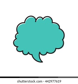 hand drawn bubble speech icon Illustration design