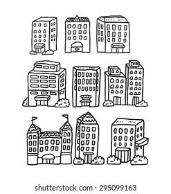 hand drawn building