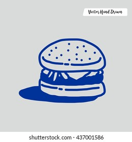 Hand Drawn Burger