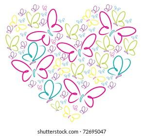 Butterfly Heart Images Stock Photos Vectors Shutterstock