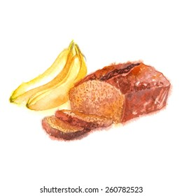 Bread Watercolor Images Stock Photos Vectors Shutterstock