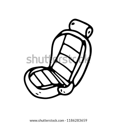 Hand Drawn Car Seat Doodle Icon Stock Vector Royalty Free