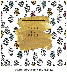 Hand Drawn Card Poster Gold Texture Stock Vector Royalty Free