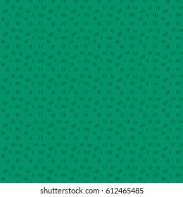 Hand drawn cartoon background with grass. Vector seamless pattern.