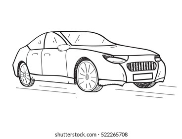 Car Sketch Images Stock Photos Vectors Shutterstock