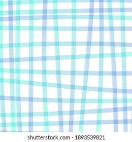 Hand drawn checkered background. Vector illustration, flat design