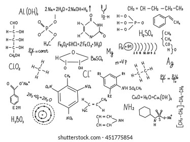 Chemistry formula images stock photos vectors shutterstock hand drawn chemistry formulas science knowledge education thecheapjerseys Image collections