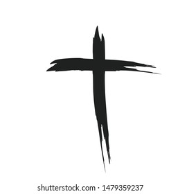 Hand drawn christian cross signs. Religion symbol, Catholicism icon. Signs and symbols icon can be used for web, logo