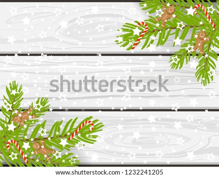 Hand Drawn Christmas Vector Background White Stock Image