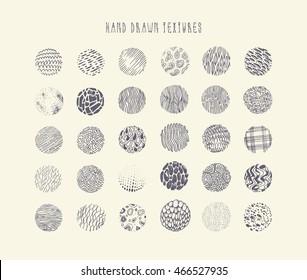Hand drawn circle textures