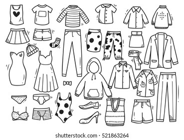 Clothes Drawing Images Stock Photos Vectors Shutterstock