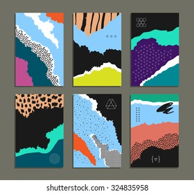 Hand drawn collection of artistic invitations. Artistic background. Wedding, marriage, bridal, birthday, Valentine's day.Vector. Gradients free