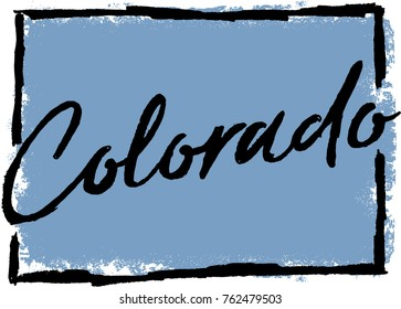 Hand Drawn Colorado State Design