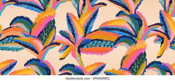 Hand drawn colorful abstract print. Artistic collage seamless pattern. Fashionable template for design.