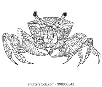 Adult Coloring Book Crab Images Stock Photos Vectors Shutterstock