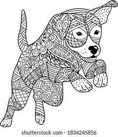 Puppy Adult Coloring Pages High Res Stock Images Shutterstock