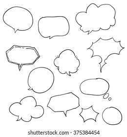 Hand Drawn Comics Style Speech Bubbles