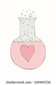 Hand drawn concept - Love chemistry