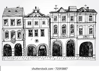 Hand Drawn Cozy Street