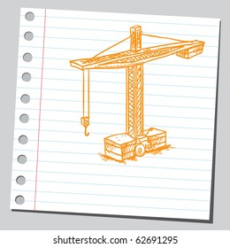 Hand drawn crane