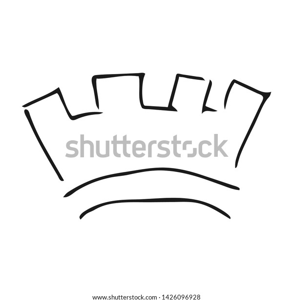 Hand Drawn Crown Simple Graffiti Sketch Stock Vector Royalty Free 1426096928 Also crown clip easy cartoon available at png transparent variant. shutterstock