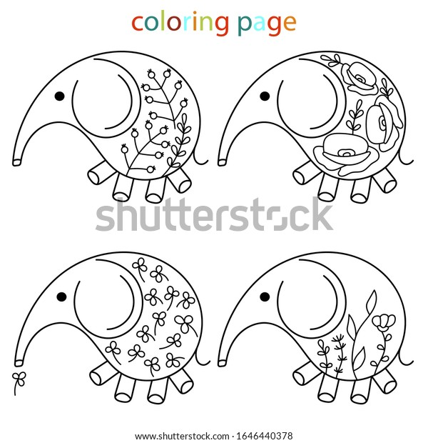 Baby Elephant Coloring Pages for Kindergarten | Activity Shelter | 620x600