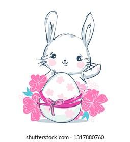 Rabbit Drawing Images Stock Photos Vectors Shutterstock