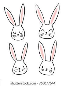 Rabbit Face Images Stock Photos Vectors Shutterstock