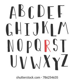 Hand drawn cute font your type stock vector royalty free 786254635 hand drawn cute font for your type design posters greeting card website banners video blogs and m4hsunfo