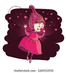 Hand Drawn cute Love Fairy