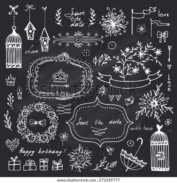 Free Christmas Chalkboard Clipart Present | Yatfxp.happy2020info.site