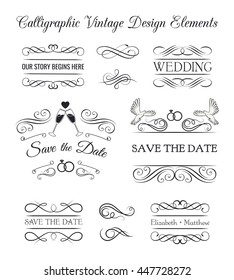Hand drawn dividers set. Ornamental decorative elements. ornate elements design. Vector illustration.