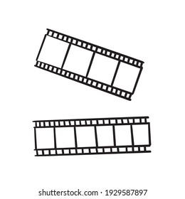 hand drawn doodle film strip icon illustration isolated background