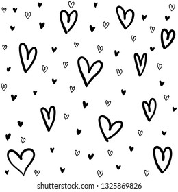 Hand drawn doodle hearts