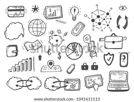 Hand Drawn Doodle Internet Things Stock Stock Vector Royalty Free