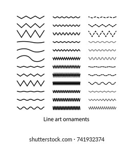 Hand drawn doodle line set vector illustration.