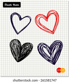 hand drawn doodle love icon