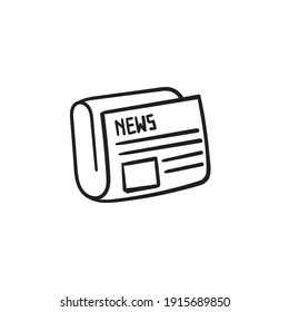hand drawn doodle news icon illustration vector