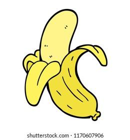 hand drawn doodle style cartoon banana