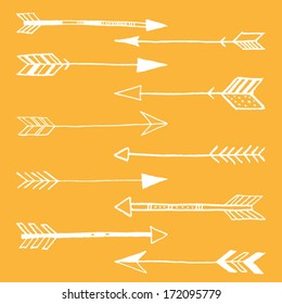 Hand Drawn Doodle Tribal Arrows