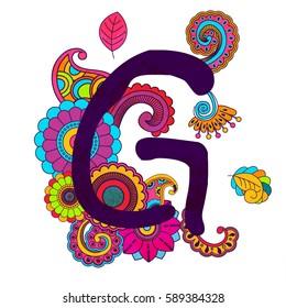 Hand Drawn Doodling Alphabet