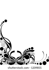 hand drawn dots and line design vector illustration scalable change the color & size as you wish