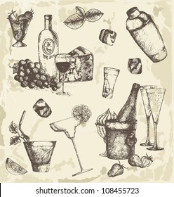 Hand drawn drinks collection
