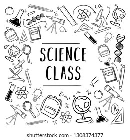 Hand Drawn Education School Science Class Element Background